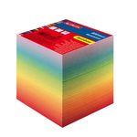 Блок бумаги для заметок, радуга, размер 9x9х9 см, 800 листов, проклеенный HERLITZ артикул 10901973