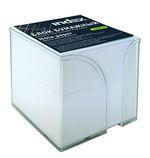 Блок бумажный, белый, в пластиковой подставке, размер 9х9х9 см, офсет 80 гр, I9900/R
