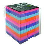 Блок бумажный, четырехцветный, в пласт. подставке, разм. 9х9х9 см, офсет 80 гр, I9902/R