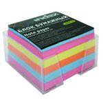Блок бумажный, четырехцветный, в пласт. подставке, разм. 9х9х5 см, офсет 80 гр, I9905/R
