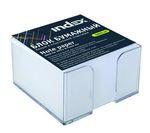Блок бумажный, белый, в пласт. подставке, разм. 9х9х5 см, офсет 80 гр, I9906/R