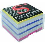 Блок бумажный, четырехцветный, в пласт. подставке, разм. 9х9х5 см, офсет 65 гр, SPC995c/gb