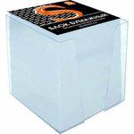 Блок бумажный, белый, в пласт. подставке, разм. 9х9х9 см, офсет 65 гр, SPC999/gb