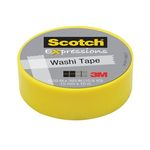 Лента клейкая декоративная SCOTCH Washi, лимон, 15мм x 10м, C314-GRN2