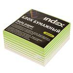 Блок бумажный, белый 2-х цветн., бел. и зелен., разм. 8х8х5 см, офсет 80 гр, I885wg/R