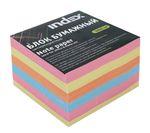Блок бумажный, четырехцветный, радужный микс, разм. 9х9х5 см, офсет 80 гр, IPC995CM