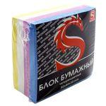 Блок бумажный, четырехцветный, разм. 8х8х3.5 см, офсет 80 гр, SPC883c