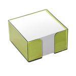Блок бумажный ЛАЙМ, в пласт. подставке, разм. 9х9х5 см, ПВ74