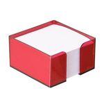 Блок бумажный ВИШНЯ, в пласт. подставке, разм. 9х9х5 см, ПВ75